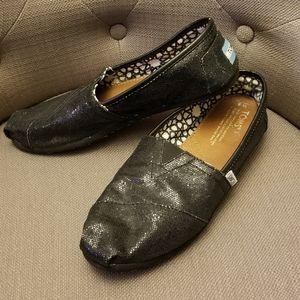 TOMS Classic Flats Sequin 8W